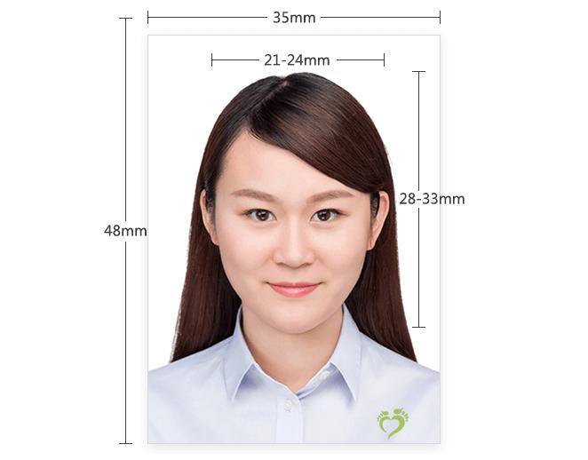 泰国签证2寸照片样本