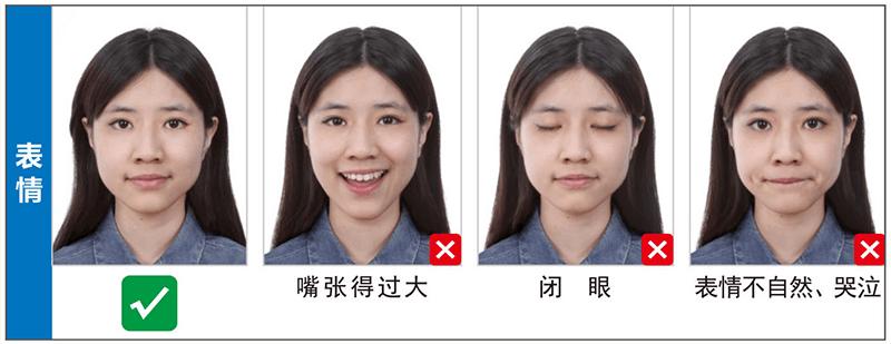 表情泰国签证照片尺寸要求